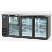 Arctic Air Back Bar Refrigerator with Three Glass Door, 72 inch -- 1 each.