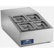 Arctic Air Refrigerated 4 Pan Compact Counter-Top Food Prep Unit, 15 inch -- 1 each.