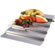 Lakeside Geneva Stainless Steel Rectangle Display Riser, 17 x 28 inch -- 1 each.