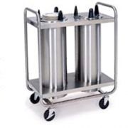 Lakeside Stainless Steel 2 Stack Non Heated Regular Open Tubular Frame Plate Dispenser - 11 1/4 to 12 1/4 inch Accommodate Plate Size -- 1 each.