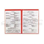 Red Alegacy Vinyl Plastic Menu Cover, 8 1/4 x 12 inch -- 1 each.