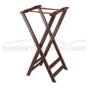 Alegacy Dark Mahogany Wooden Tray Stand with Rubber Ring, 16 1/4 x 32 1/2 inch -- 1 each.