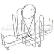 Alegacy Chrome Plated Wire Sugar Pack Holder, 7 1/2 x 5 x 4 1/2 inch -- 1 each.