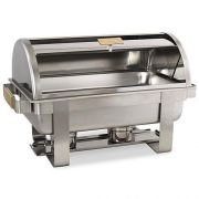 Alegacy Sonata Serenade Stainless Steel Full Size Roll Top Chafer, 22 x 14 1/4 x 15 3/8 inch -- 1 each.