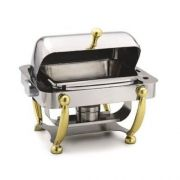 Alegacy Electric Savoir Half Size Dome Cover Electric Chafer with Brass Leg, 17 x 15 1/8 x 15 5/8 inch -- 1 each.