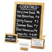 Cal Mil Bamboo Framed Write On Easel Board, 10.25 x 4.5 x 11.75 inch -- 6 per case.
