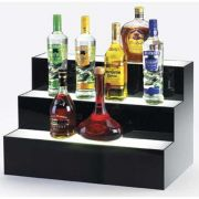 Cal Mil Under Lit Acrylic 3 Step Bottle Display Riser, 24 x 14.5 x 15.5 inch -- 1 each.