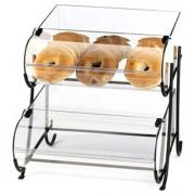 Cal Mil 2 Tier Iron Round Nose Bins Display, 15.5 x 17.625 x 17.375 inch -- 1 each.