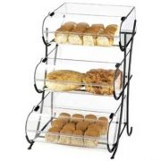 Cal Mil 3 Tier Iron Round Nose Bins Display, 17.5 x 16.375 x 25 inch -- 1 each.
