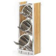 Cal Mil Eco Modern Bamboo Three Tier Cylinder Holder, 6.5 x 8 x 17 inch -- 1 each.