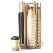 Cal Mil Bamboo Revolving Cup/Lid Organizer, 9 x 9 x 18.5 inch -- 1 each.