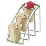 Cal Mil Mission Silver Vertical 3 Tier Display, 7 x 13 x 10.75 inch -- 1 each.