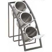 Cal Mil Mission Black Sloped 3 Tier Display, 7 x 13 x 13 inch -- 1 each.