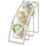 Cal Mil Mission Silver Sloped 3 Tier Display, 7 x 13 x 13 inch -- 1 each.