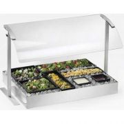Cal Mil Stainless Steel Single Sneezeguard, 73.25 x 16 x 20.625 inch -- 1 each.