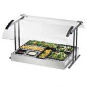 Cal Mil Black Double Face Table Mount Buffet Guard, 73.25 x 27.25 x 21.5 inch -- 1 each.