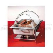 CalMil Durable Polycarbonate Dome Cover with Center Hinged Lid, 12 x 20 x 4 inch -- 4 per case.
