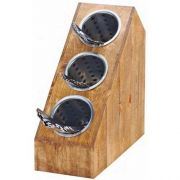 Cal Mil Madera Slanted 3 Section Cylinder Stand, 6.25 x 14.5 x 15 inch -- 1 each.