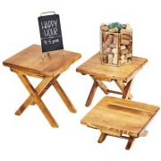 Cal Mil Madera Small Tabletop Riser, 10 x 10 x 5 inch -- 1 each.
