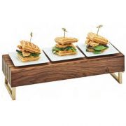 Cal Mil Wood Mid Century Reversible Riser with Chrome Handle, 20 x 7 x 6 inch -- 1 each.