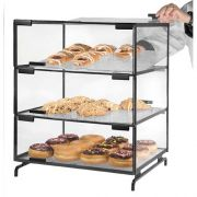 Cal Mil Black 3 Level Pastry Case, 16 x 20 x 23 inch -- 1 each.