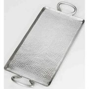 American Metalcraft Hammered Stainless Steel Small Rectangle Griddle, 21 3/4 inch Length -- 6 per case.
