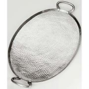 American Metalcraft Stainless Steel Hammered Finish Oval Griddle, 23 3/4 x 13 3/4 x 1 3/4 inch -- 1 each.