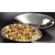American Metalcraft Stainless Steel Large Oval Hammered Bowl, 20.125 x 16.25 x 3.375 inch -- 1 each.