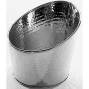 American Metalcraft Hammered Stainless Steel Angled Beverage Tub, 7 inch Dia. -- 24 per case.