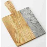 American Metalcraft Olive Wood and Gray Marble Serving Peel, 14 inch Length -- 8 per case.