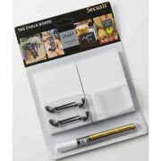American Metalcraft Medium White Mini Chalk Card Set -- 15 set per case.
