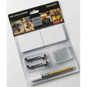 American Metalcraft Small White Mini Chalk Card Set -- 15 set per case.