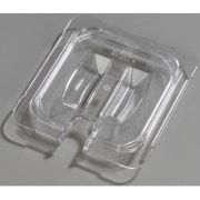 Carlisle Polycarbonate Clear Universal Handled Notched Lid Only, 6 3/4 x 6 3/8 inch -- 1 each.