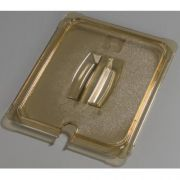 Carlisle High Heat Plastic Amber Universal Handled Notched Lid Only, 12 3/4 x 10 3/8 inch -- 1 each.
