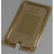 Carlisle High Heat Plastic Amber Universal Flat Notched Lid Only, 12 3/4 x 7 inch -- 1 each.