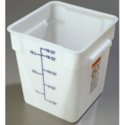 2 Quart StorPlus Polyethylene Square Food Storage Container -- 1 each