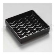 Black Patented NeWave Square Drip Tray 4 inch -- 1 each