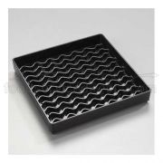 Black Patented NeWave Square Drip Tray 6 inch -- 1 each