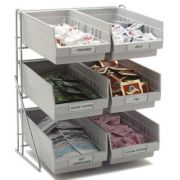 Carlisle Chrome Plated Steel Grey Wire Packet Rack, 14 x 12 x 18 inch -- 1 each.