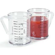 Carlisle Clear Polycarbonate Dredge Measuring Cup, 8 Ounce -- 1 each.