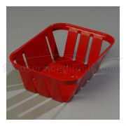 Red Stackable Munchie Basket 5 3/8 x 7 3/8 inch -- 1 each