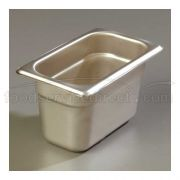 4 inch Depth DuraPan 18-8 Stainless Steel Heavy Gauge One Ninth Size Food Pan -- 1 each