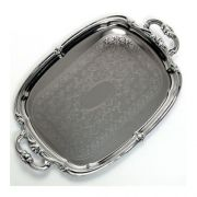 Carlisle Carbon Steel Celebration Oval Tray with Integral Handle, 20 7/8 x 13 1/2 inch -- 1 each.