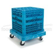Carlisle Blue Polypropylene E Z Glide Glass Rack Dolly Cart without Handle -- 1 each