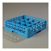 with 1 Extender Polypropylene Blue OptiClean 16 Compartment Cup Rack -- 1 each