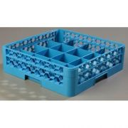 without Extender Polypropylene Blue OptiClean 16 Compartment Cup Rack -- 1 each