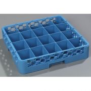 without Extender Polypropylene Blue OptiClean 20 Compartment Cup Rack -- 1 each