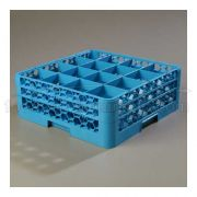 with 2 Extender Polypropylene Blue OptiClean 16 Compartment Glass Rack -- 1 each