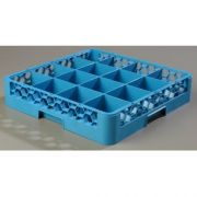without Extender Polypropylene Blue OptiClean 16 Compartment Glass Rack -- 1 each