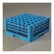 with 3 Extender Polypropylene Blue OptiClean 36 Compartment Glass Rack -- 1 each